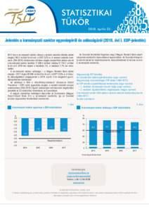 STATISZTIKAI TÜKÖR 2018. április 23. Jelentés a kormányzati szektor egyenlegéről és adósságáról (2018. évi I. EDP-jelentésben a kormányzati szektor hiánya a nemzeti számlák előzetes adatai