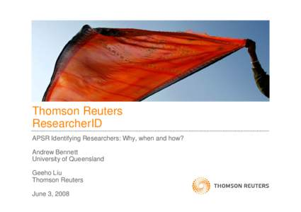 THOMSON REUTERS  PRESENTATION TEMPLATE