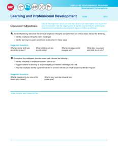 EMPLOYEE PERFORMANCE PROGRAM Development Conversations UIC  Learning and Professional Development