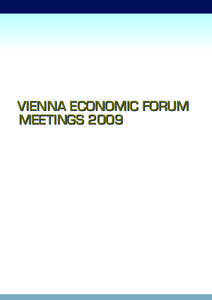 VIENNA ECONOMIC FORUM MEETINGS 2009 History of a Vision  INTRODUCTION