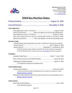 Wyoming Secretary of State Election Division 2020 Carey Avenue, Suite 600 Cheyenne, WYPh