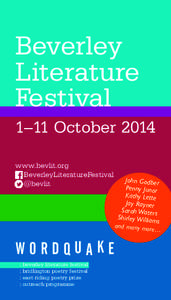 Beverley Literature Festival day or subject