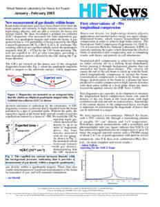 Virtual National Laboratory for Heavy Ion Fusion  January - February 2005 HIFNews LBNL-PUB