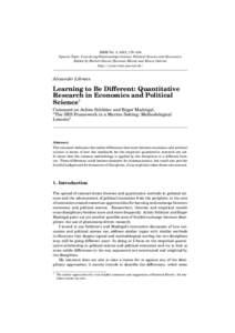 RMM Vol. 3, 2012, 178–184 Special Topic: Coevolving Relationships between Political Science and Economics Edited by Herbert David, Hartmut Kliemt and Elinor Ostrom http://www.rmm-journal.de/  Alexander Libman