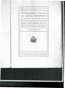 MINUTES  of the Commissioners for detecting and defeating Conspiracies