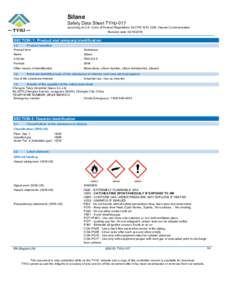 Silane  Safety Data Sheet TYHJ-017 according to U.S. Code of Federal Regulations 29 CFR, Hazard Communication. Revision date:
