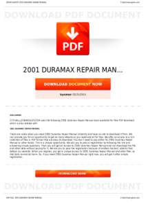 BOOKS ABOUT 2001 DURAMAX REPAIR MANUAL  Cityhalllosangeles.com 2001 DURAMAX REPAIR MAN...