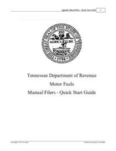 Appendix Manual Filers - Quick Start Guide  1 Appendix Manual Filers - Quick Start Guide