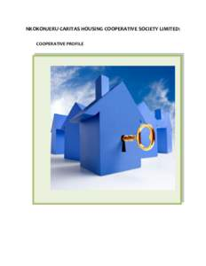 NKOKONJERU CARITAS HOUSING COOPERATIVE SOCIETY LIMITED: COOPERATIVE PROFILE VISION:  To realize decent housing for all members