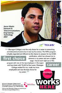 Aaron Martin Network & Telecommunications Engineering Technology 2007