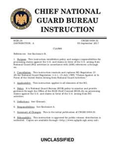 CHIEF NATIONAL GUARD BUREAU INSTRUCTION NGB-JA DISTRIBUTION: A