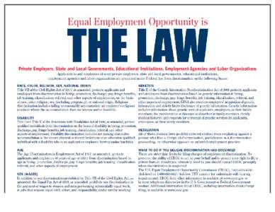 an analysis of the equal employment opportunity commission and the affirmative action in the united  Us equal employment opportunity commission and the basis of the action doing business with eeoc jobs & internships equal employment opportunity data.