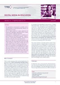 Pressfoto – Freepik.com  OFFICE OF TECHNOLOGY ASSESSMENT AT THE GERMAN BUNDESTAG  DIGITAL MEDIA IN EDUCATION