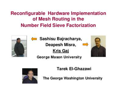 Implementation of Mesh Routing for the Matrix Step in Number Field Sieving Factoring