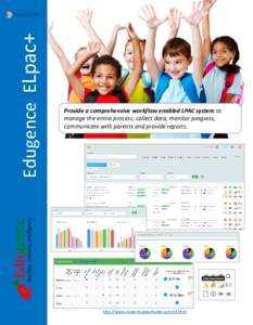 Edugence ELpac+  Provide a comprehensive workflow enabled LPAC system to manage the entire process, collect data, monitor progress, communicate with parents and provide reports.