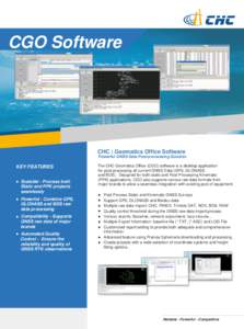 CGO Software  CHC | Geomatics Office Software Powerful GNSS Data Post-processing Solution  KEY FEATURES