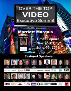 Marriott Marquis Keynote Speaker Times Square New York City June 15, 2016