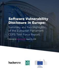 1  Software Vulnerability Disclosure in Europe: Summary and Key Highlights of the European Parliament