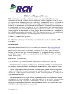 Microsoft Word - Revised_RCN FCC Network Management Disclosures - Edits v1 v3 (1)