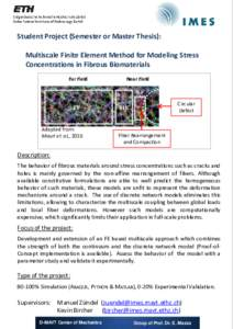 Student Project (Semester or Master Thesis): Multiscale Finite Element Method for Modeling Stress Concentrations in Fibrous Biomaterials Far Field  Near Field