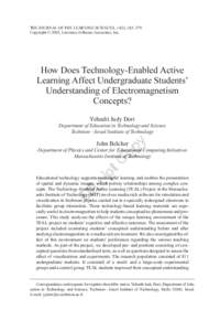 How Does Technology-Enabled Active Learning Affect Undergraduate Students' Understanding of Electromagnetism Concepts?