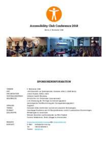 Accessibility Club Conference 2018 — Sponsoringinformationen