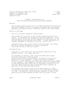 Internet Engineering Task Force (IETF) Request for Comments: 6352 Category: Standards Track ISSN: C. Daboo