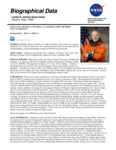 Biographical Data Lyndon B. Johnson Space Center Houston, TexasNational Aeronautics and Space Administration