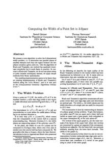 Computing the Width of a Point Set in 3-Spa