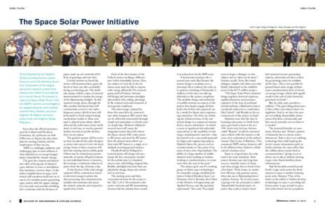 IDEA FLOW  IDEA FLOW The Space Solar Power Initiative
