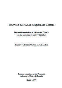 Essays on east asian religion and culture