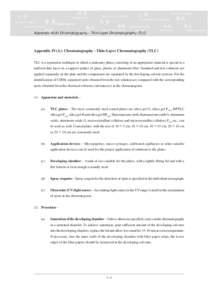 thin layer chromatography journal pdf