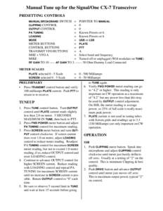 engine tune up procedure pdf