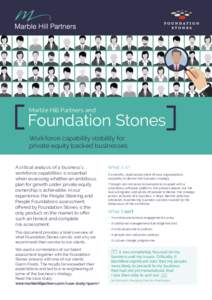 Marble Hill Partners and  Foundation Stones Workforce capability visibility for private equity backed businesses A critical analysis of a business's