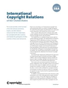 Circular 38A International Copyright Relations of the United States