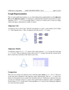 6.006 Intro to Algorithms  QUIZ 2 REVIEW NOTES - Part 2 April 12, 2011