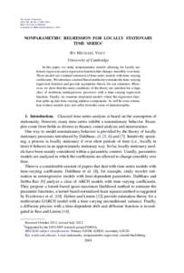 Nonparametric regression for locally stationary time series