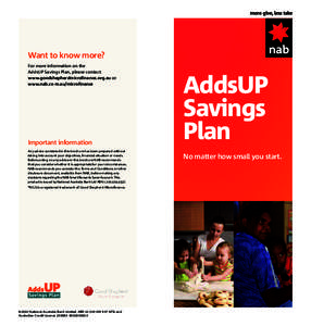 how to add a new savings account nab