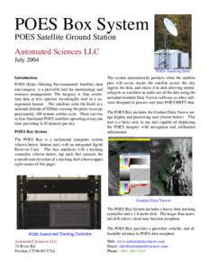POES Box System POES Satellite Ground Station Automated Sciences LLC JulyPOES Tracking Dish