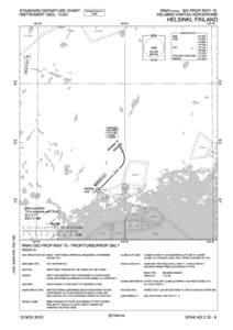 STANDARD DEPARTURE CHART INSTRUMENT (SID) - ICAO RNAV (GNSS) SID PROP RWY 15 HELSINKI-VANTAA AERODROME