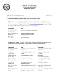 NATIONAL GUARD BUREAU 1411 JEFFERSON DAVIS HIGHWAY ARLINGTON VANGB PUBLICATIONS BULLETIN 11-06