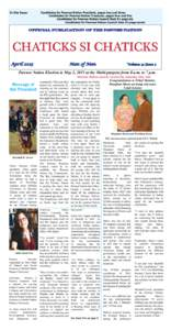 In this Issue:  Candidates for Pawnee Nation President, pages two and three