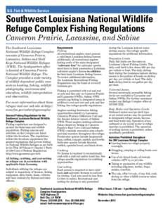 U S Fish Lacassine National Wildlife Refuge Document