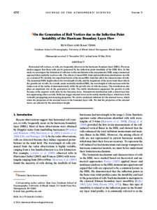 4292  JOURNAL OF THE ATMOSPHERIC SCIENCES VOLUME 71