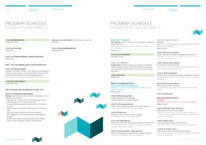 10  Global Dialogue conference  Program schedule