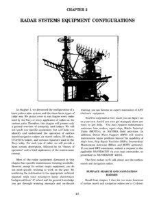 CHAPTER 2  RADAR SYSTEMS EQUIPMENT CONFIGURATIONS