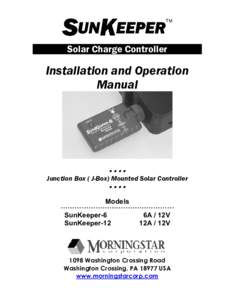 SUNKEEPER  TM Solar Charge Controller