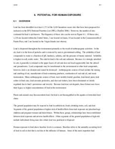 TOXICOLOGICAL PROFILE FOR LEAD