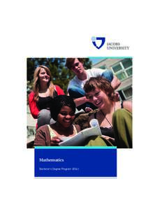 Mathematics Bachelor's Degree Program (BSc) Mathematics Program Handbook Bachelor of Science Academic Year 2014–15