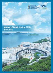 Master of Public Policy (MPP While advancements in science and technology have been rapidly expanding the range of solutions for tackling global challenges such as climate change and population ageing,